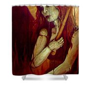 Out Of The Fire Shower Curtain