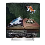 Out Of The Pond Shower Curtain
