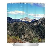 Out Of The Shadows - Angeles Crest Highway Shower Curtain