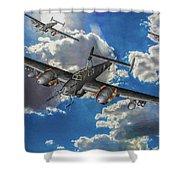 Out Of The Sun - Messerschmitt Bf 110g - Oil Shower Curtain