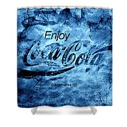 Out Of This World Coca Cola Blues Shower Curtain