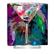 Out Of This World Martini Shower Curtain