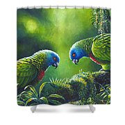 Out On A Limb - St. Lucia Parrots Shower Curtain