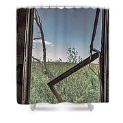 Out Overlooking A Pasture Shower Curtain