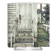 Out The Back Door Pencil Shower Curtain