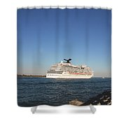 Out To The Ocean Shower Curtain
