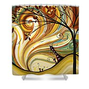 Out West Original Madart Painting Shower Curtain by Megan Duncanson