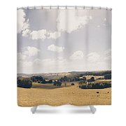 Outback Ridgley In Scenic Tasmania, Australia Shower Curtain