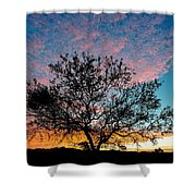 Outback Sunset Pano Shower Curtain