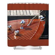 Outboard Runabout Shower Curtain