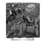 Outboards Bw Shower Curtain