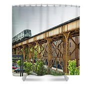 Outbound Blue Line Shower Curtain