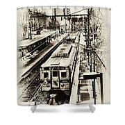 Outbound Train Shower Curtain