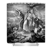 Outbreak Of Rebellion In The United States 1861 Shower Curtain