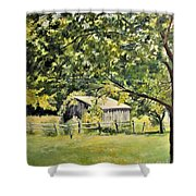 Outbuilding At Oriskatach New York Shower Curtain