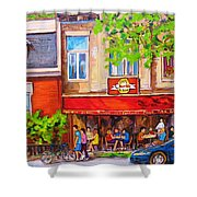 Outdoor Cafe Shower Curtain