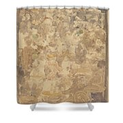 Outdoor Cafe Scene Shower Curtain