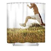Outdoor Jogging IIi Shower Curtain