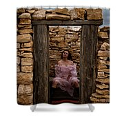 Outdoor Outhouse Shower Curtain