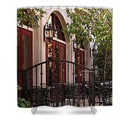 Outdoor Restaurant Shower Curtain