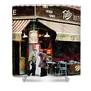 Outdoor Seating Shower Curtain