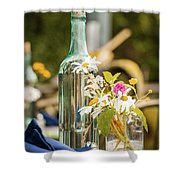 Outdoor Table Setting Shower Curtain