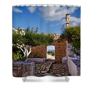 Outdoor View Shower Curtain