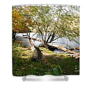 Outdoors Along The Huron River Shower Curtain