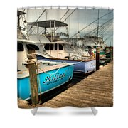 Outer Banks Fishing Boats Waiting Shower Curtain