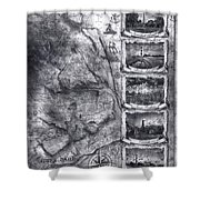 Outer Banks Lighthouse Map 1 Shower Curtain