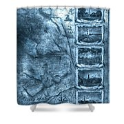 Outer Banks Lightouse Map 2 Shower Curtain