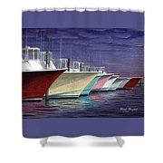 Outer Banks Line-up Shower Curtain