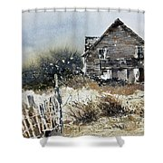 Outer Banks Shack Shower Curtain