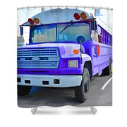 Outer Banks University Bus 1 Shower Curtain