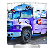 Outer Banks University Bus 2 Shower Curtain
