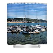 Outer Harbour - Lyme Regis Shower Curtain