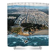 Outer Richmond San Francisco Aerial Shower Curtain