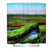 Outgoing Tide Shower Curtain