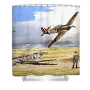 Outgunned Shower Curtain