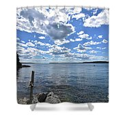 Outhaul On An Island In Casco Bay Maine  Shower Curtain