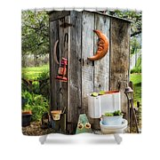 Outhouse In The Garden Shower Curtain