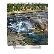Outlet Firehole Lake Shower Curtain