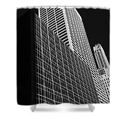 Outlines New York City Shower Curtain