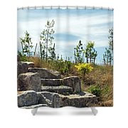 Outlook Hill, Governors Island Shower Curtain