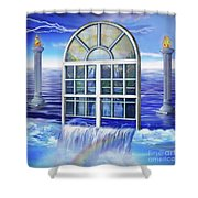 Outpouring Shower Curtain