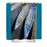 Outrigger Canoe Boats Shower Curtain