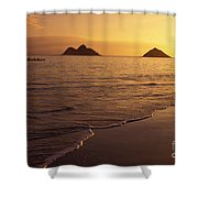 Outrigger Canoe Paddlers Shower Curtain