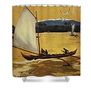 Outrigger Off Shore Shower Curtain