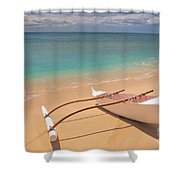 Outrigger On Beach Shower Curtain
