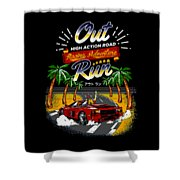 Outrun  Shower Curtain